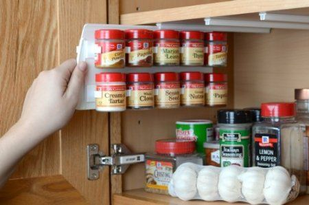 Check out this spice rack!!! I have the ones that stick on