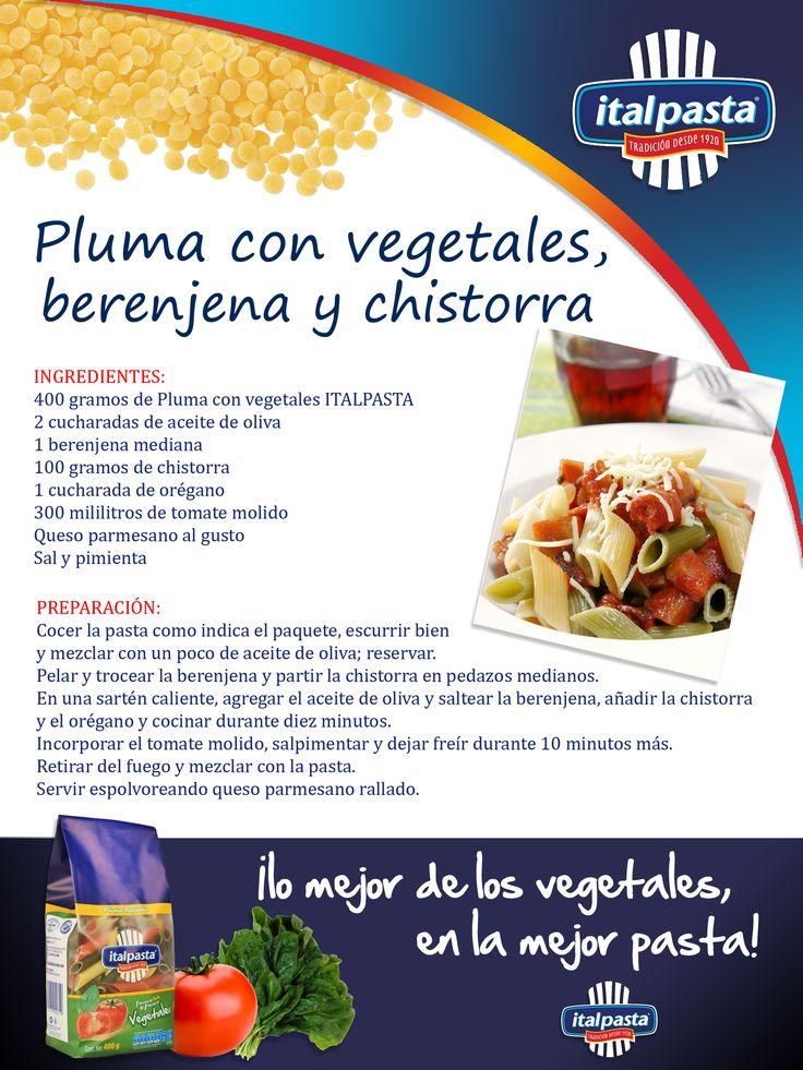 NUEVA pasta con vegetales... ITALPASTA, naturalmente