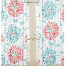 Coral Curtains | Wayfair
