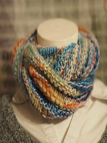 Lightweight Rainbow Bloom Cowl via CotswoldCrafters