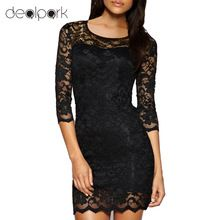 New Bodycon Peplum Flower Lace Dress Floral Vestidos Slash o-neck Sexy Short Evening Women Dress Clothing Plus Size Black White(China (Mainland))