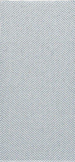 Kunstfaser-Teppich OLA blau - geeignet für Küche, Bad, Esszimmer, Garten, Terrasse, Camping..., Die Grösse/n:70 x 100 cm