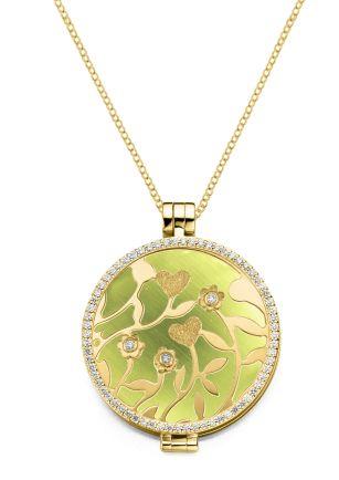 My imenso sieraden | juwelier de Bokx Wijffels MY iMenso inspiratie cat's EYE olijf groen #myimenso #juwelierdebokxwijffels #sieraden #hanger