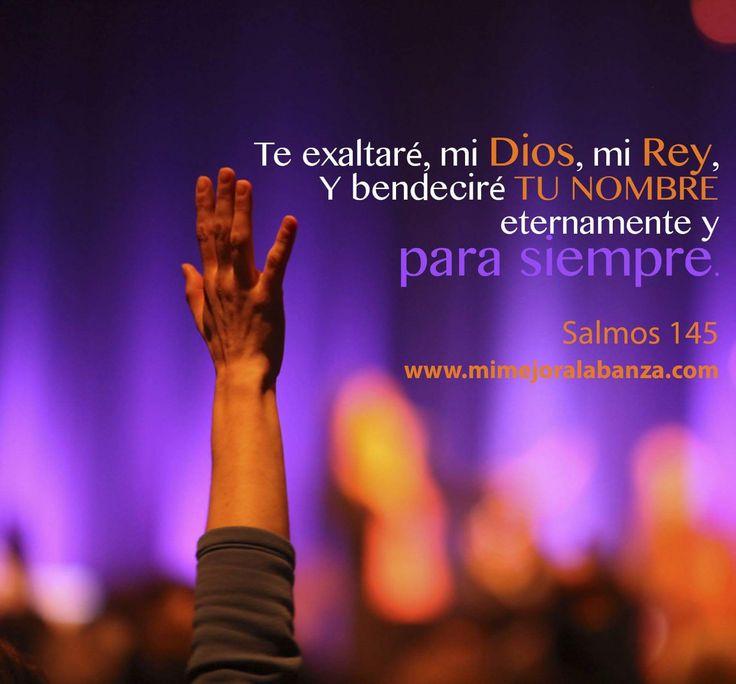 Salmo 145:1-4 Te exaltaré, mi Dios, mi Rey, Y bendeciré tu nombre eternamente y para siempre. Cada día te bendeciré, Y alabaré tu nombre eternamente y para siempre. Grande es Jehová, y digno de suprema alabanza; Y su grandeza es inescrutable. Generación a generación celebrará tus obras, Y anunciará tus poderosos hechos.♔