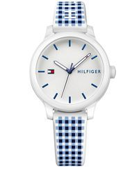 Tommy Hilfiger Women's Gingham Silicone Strap Watch 38mm