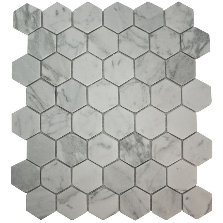 bronte white u0026 grey stone effect mosaic tile l321mm w293mm - Mosaic Tiles