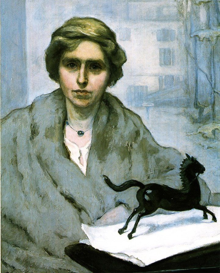 Portrait of Natalie Barney -Romaine Brooks (1920)