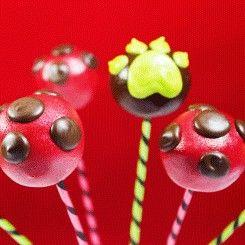 Miraculous LadyBug cake pops