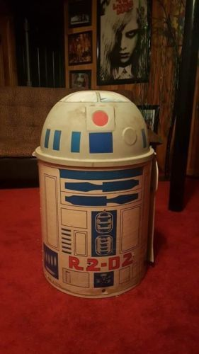 Vintage Star Wars R2D2 Toy Box Toter Clothes Hamper Chest 1983