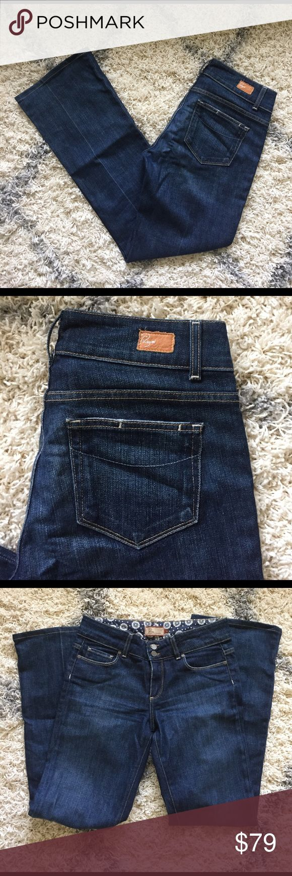 Paige Premium Denim Hidden Hills bootcut jeans 29 Paige Premium Denim Hidden Hills bootcut jeans 29. High rise. 9.5 inch rise. Inseam 32. Hemmed but not original hem. Medium to dark wash. Worn once. 98% cotton, 2% cotton Paige Jeans Jeans Boot Cut