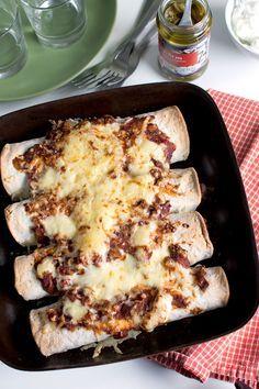 Middagstips, vegetariska enchiladas