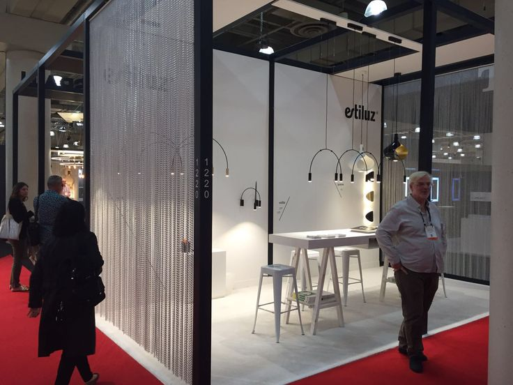 The Last Weekend Has Been ICFF Fair In New York Estiluz Booth Used KriskaDECOR Curtains To Create Divisions With Corridors