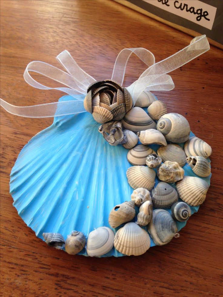 Beach Christmas Ornaments Seashell Ornaments Seashell Crafts