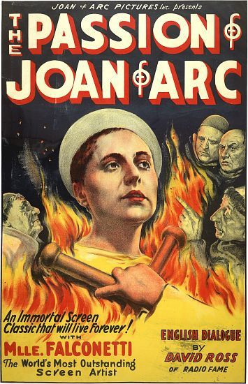The Passion Of Joan Of Arc Vintage Movie Poster