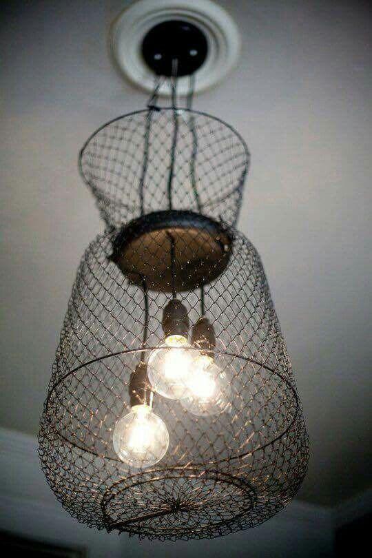 Bait Trap Light Fixtures Up Cycle Basket Lighting