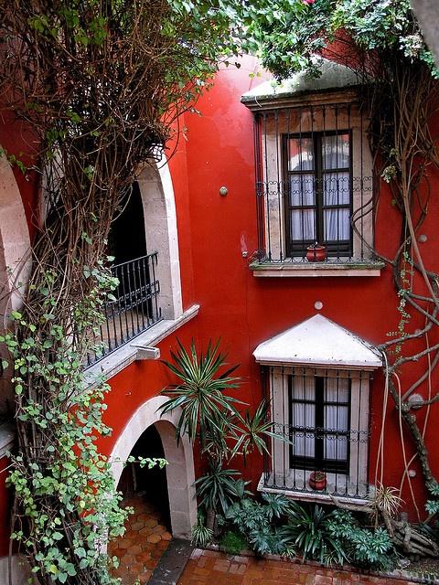 Hotel De La Soledad from the 17th century, Morelia, MEXICO.