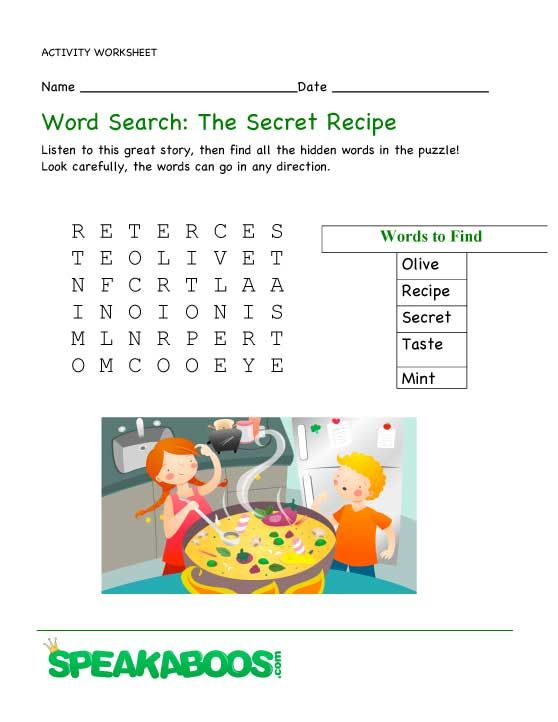 Worksheet Parts Of A Recipe : Best prek k food images on pinterest