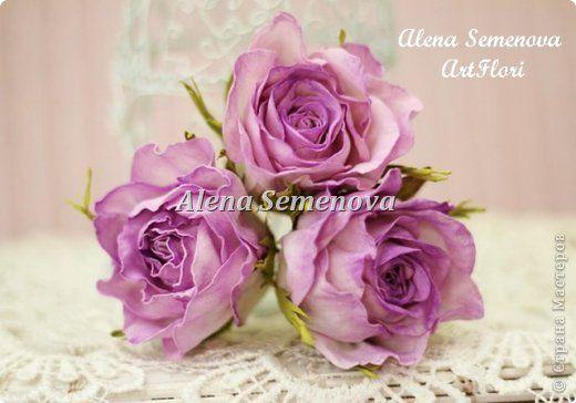 Украшение Выпускной Свадьба Моделирование конструирование Цветы для прически из фоамирана Розы и веночек Фоамиран фом фото 5