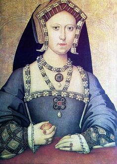 Mary Tudor, Queen of France, sister of Henry VIII.,,,,Billiments were strands of gold work and jewels used as Tudor Jewelry and sewn to the neckline of garments of clothing