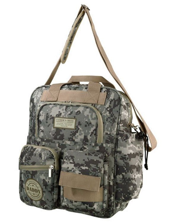 Camouflage Diaper Bag Lillian Rose Daddy Military Changing Bottle Clothes
