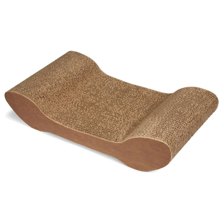 SmartyKat CatChaise Corrugated Cat Scratcher9.25inX17.125inX3.875in