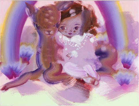 Katja Tukiainen, 'Rainbow Kid', oil and alkyd on canvas, 2011