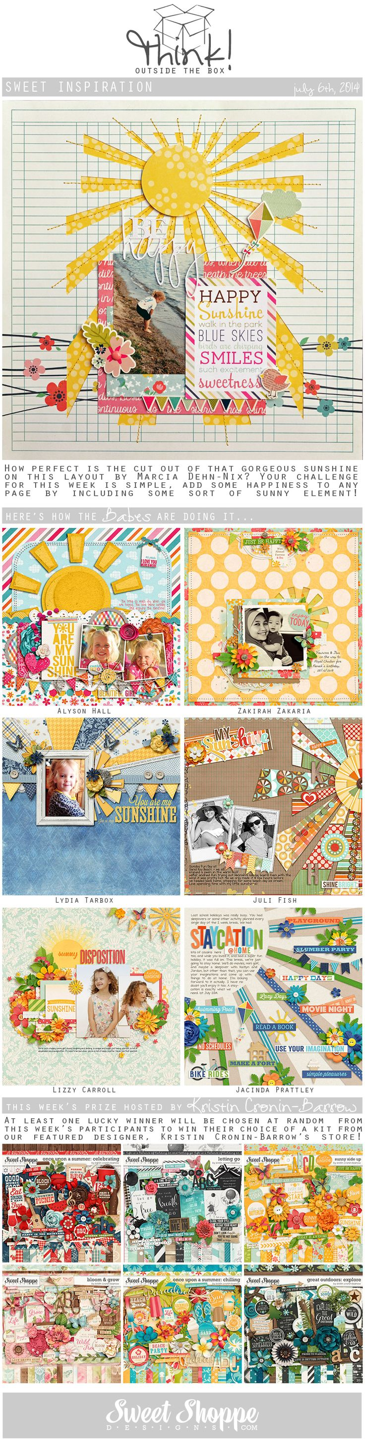 33 creative scrapbook ideas every crafter should know diy projects - Looking For A Fresh New Take On A Scrap Challenge Check Out Sweet Shoppe Designs Think Outside The Box Challenge For July And Scrap Along For Your Chance