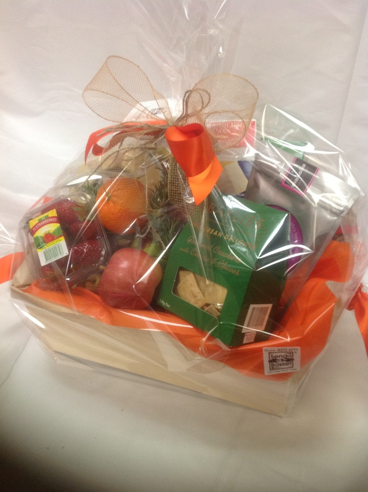 Fruit & Nibbles Hamper from Sendabasketsa - Unley. South Australia. www.facebook.com/... All those special occasions. Flower arrangements and Poseys, Fresh and Silk sent seperately or include in your Gift Basket, Gourmet Hamper or Box, 'Mothers' Day' 'Fathers Day' 'New Baby' 'Anniversary' 'Birthday' 'Happy Easter' 'Merry Christmas', 'Congratulations - 'Promotion' 'New Job' 'New Home' and more.