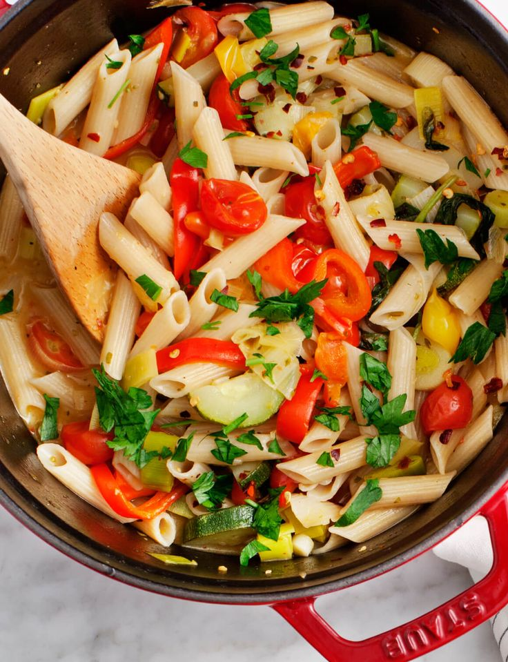 Vegetarische penne pasta - Powered by @ultimaterecipe