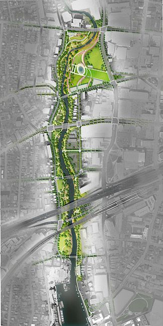 """mindyourgarden: """" Mill River Park and Greenway (Stamford, Connecticut) Three primary goals: create a park that meets the recreational and civic needs of a diverse population, provide a natural habitat..."""