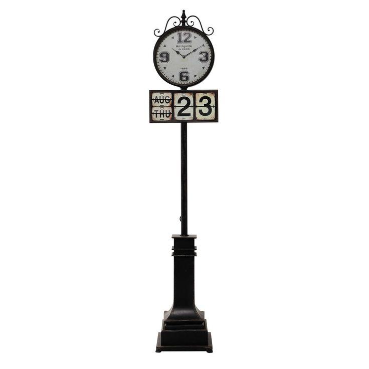 Horloge sur pied en métal noire H 206 cm ANTIQUITÉ DE PARIS