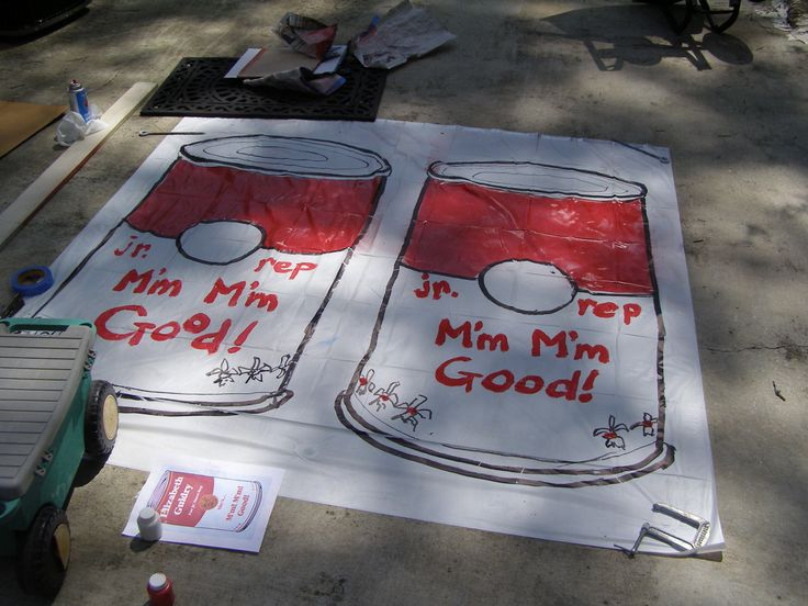 Campaign Banners for high school SGA election. Painted on ...