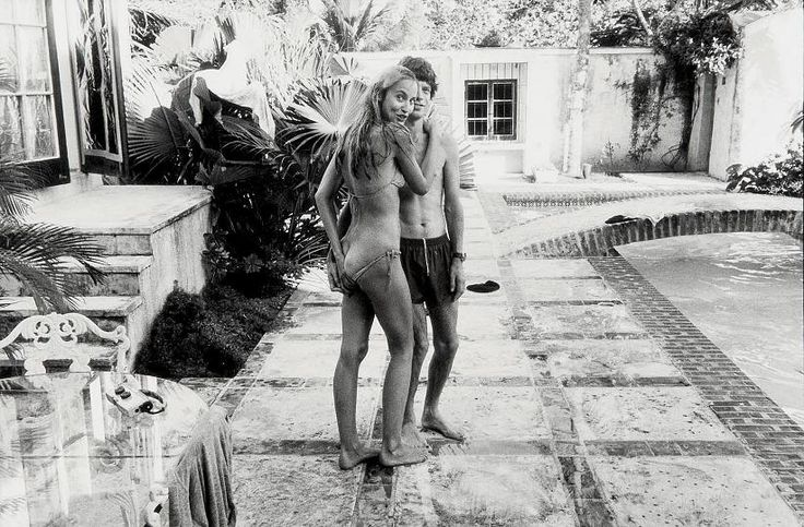 "deshistoiresdemode: ""  Mick Jagger & Jerry Hall by Helmut Newton, 1970s. """
