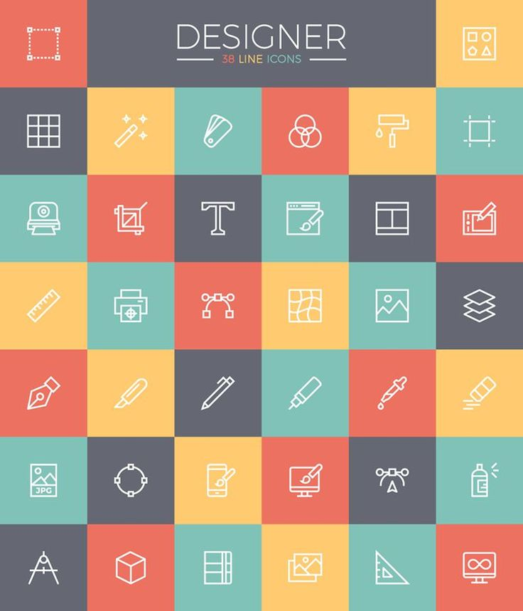 Line Icon Set for Designers