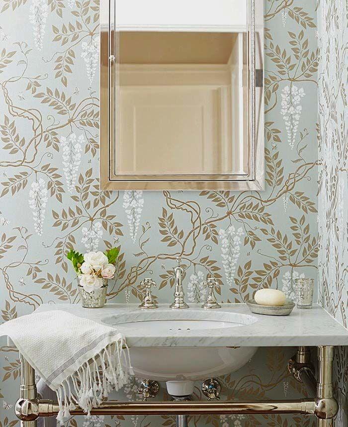 wisteria wallpaper bathroom - photo #13