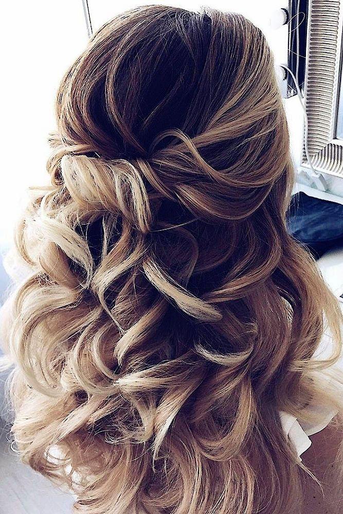 Wending Frisuren – Romantische Hochzeit Half Up Half Down Ideen Hochzeitsfrisur …   – prom