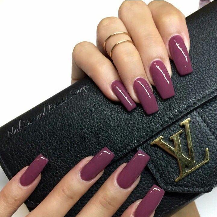 Deep mauve nail color. I love it!