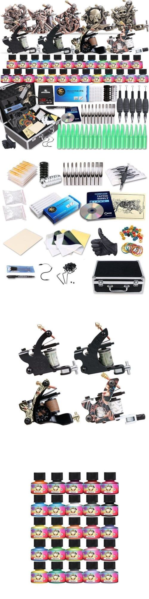 Tattoo Complete Kits: Starter Complete Tattoo Kit Professional Machine Gun Power Supply Needle Ink Set -> BUY IT NOW ONLY: $114.99 on eBay!