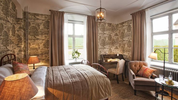 Castle Bedroom at beatiful Rosersberg Palace, Stockholm