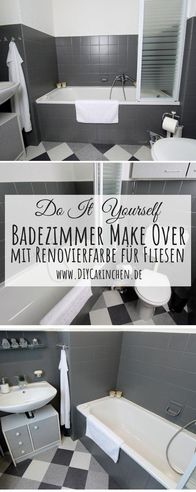 Diy Badezimmer Streichen Und Renovieren Mit Fliesenfarbe Badezimmer Renovieren Badezimmer Streichen Und Renovieren