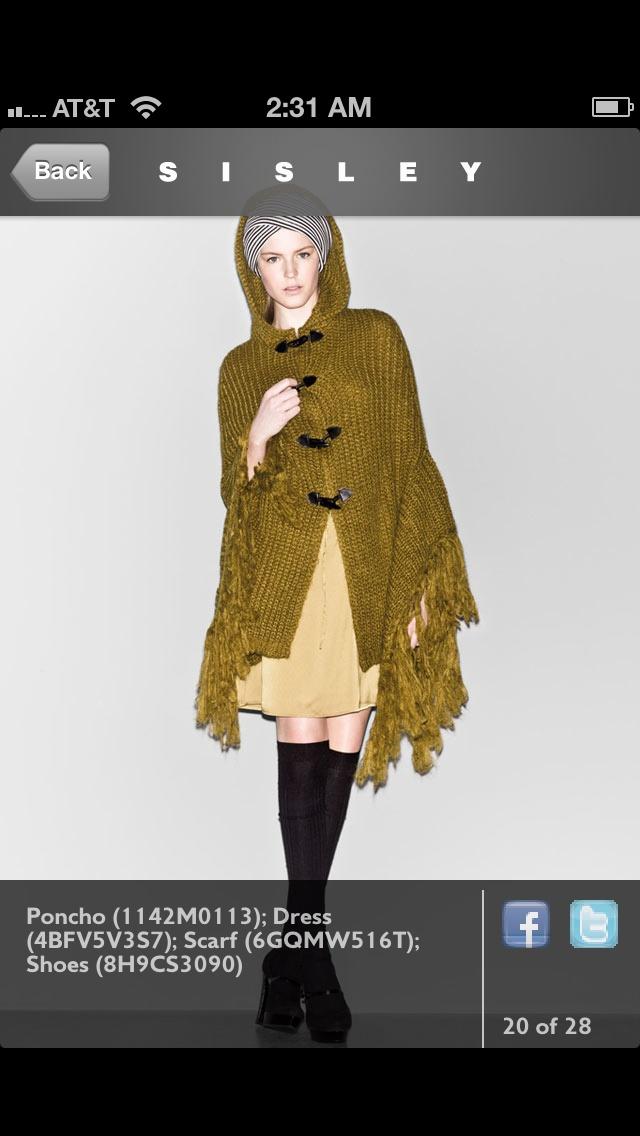 Sweater shawl