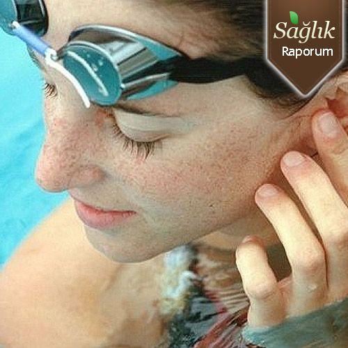 Havuz suyunda dış kulak iltihabı tehlikesi