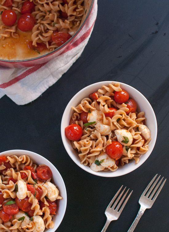 Easy caprese pasta salad recipe - cookieandkate.com