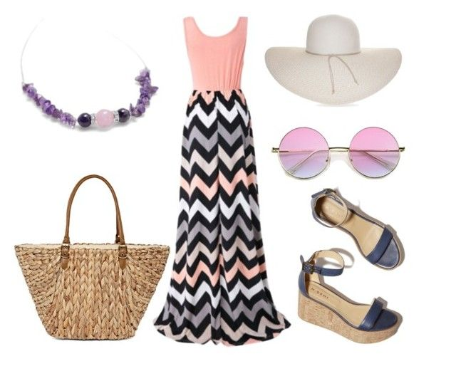 """""""Summer happy day outfit"""" by tunderkomod on Polyvore featuring Chicnova Fashion, Nine West, Straw Studios and M. Gemi"""