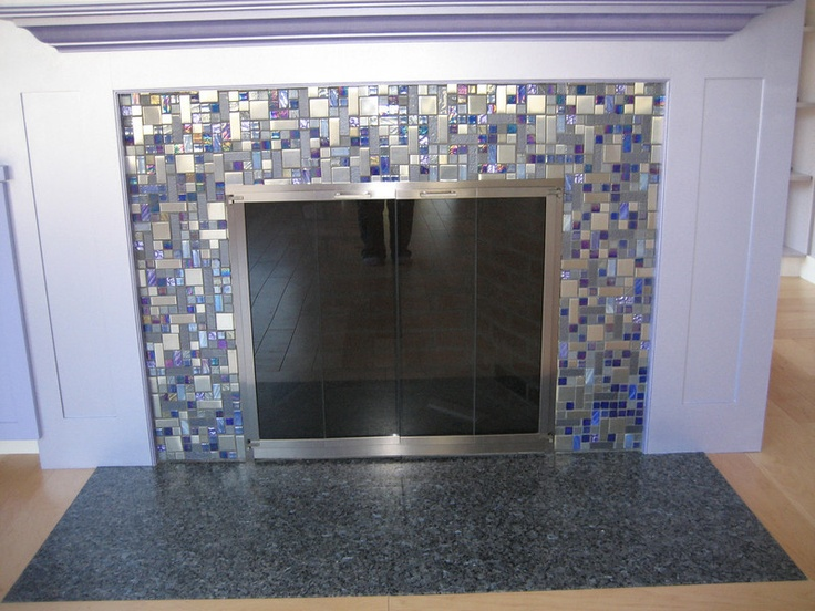Stainless Steel And Metallic Fireplace Surround Fireplace Pinterest