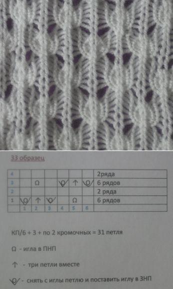 Образец вязания 33