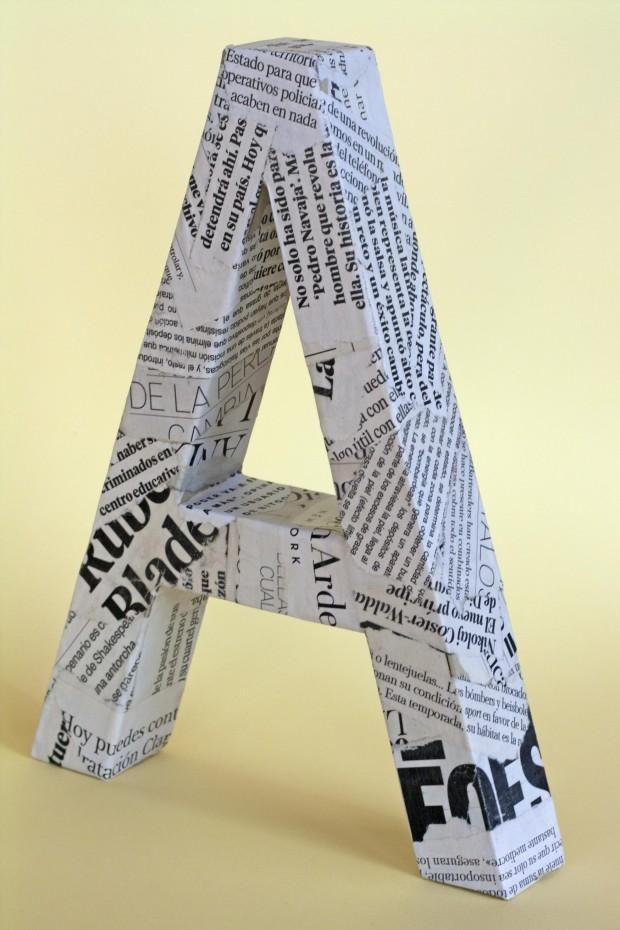 Decora tu hogar con letras de cartón y tela | Aprender manualidades es facilisimo.com