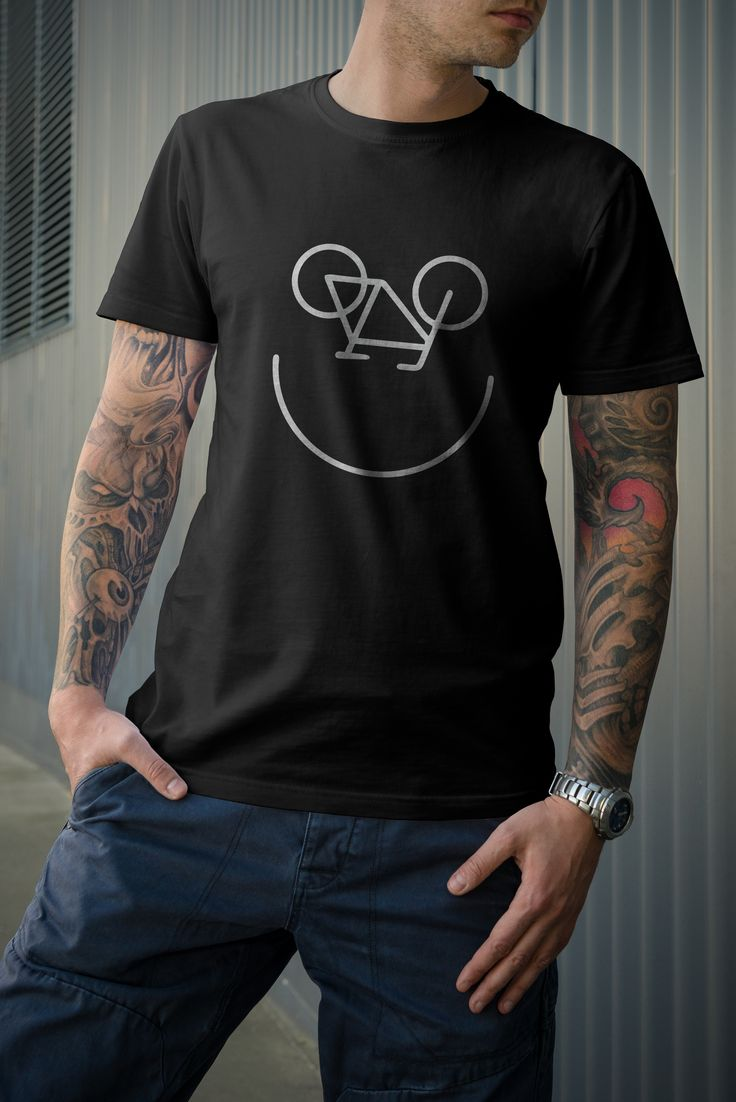"Мужская футболка ""Вело-смайл"" 990 ₽"