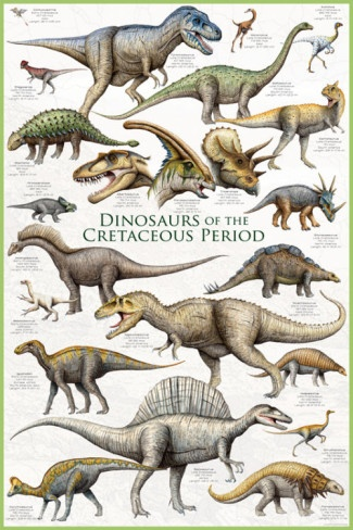 #1 Dinosaurs Before Dark: Dinosaurs - Cretaceous Period Poster