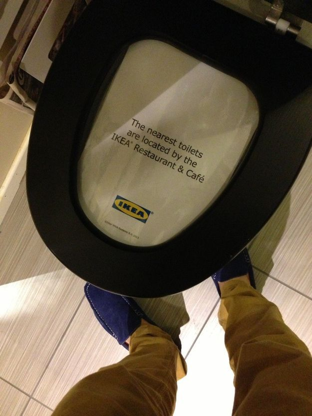 This sign at Ikea:   22 Signs That Demand An Explanation